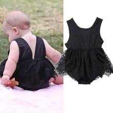 Baby Girl Lace Sleeveless Romper