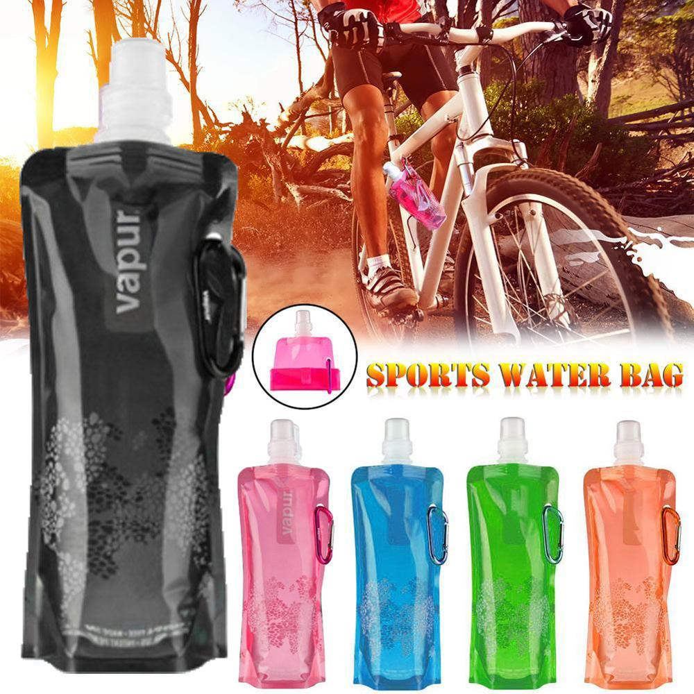 Reusable Ultralight Sport  Folding Water Bottle Travel Outdoor Camping Mountaineering Portable Tourism Hiking Drink Kettle