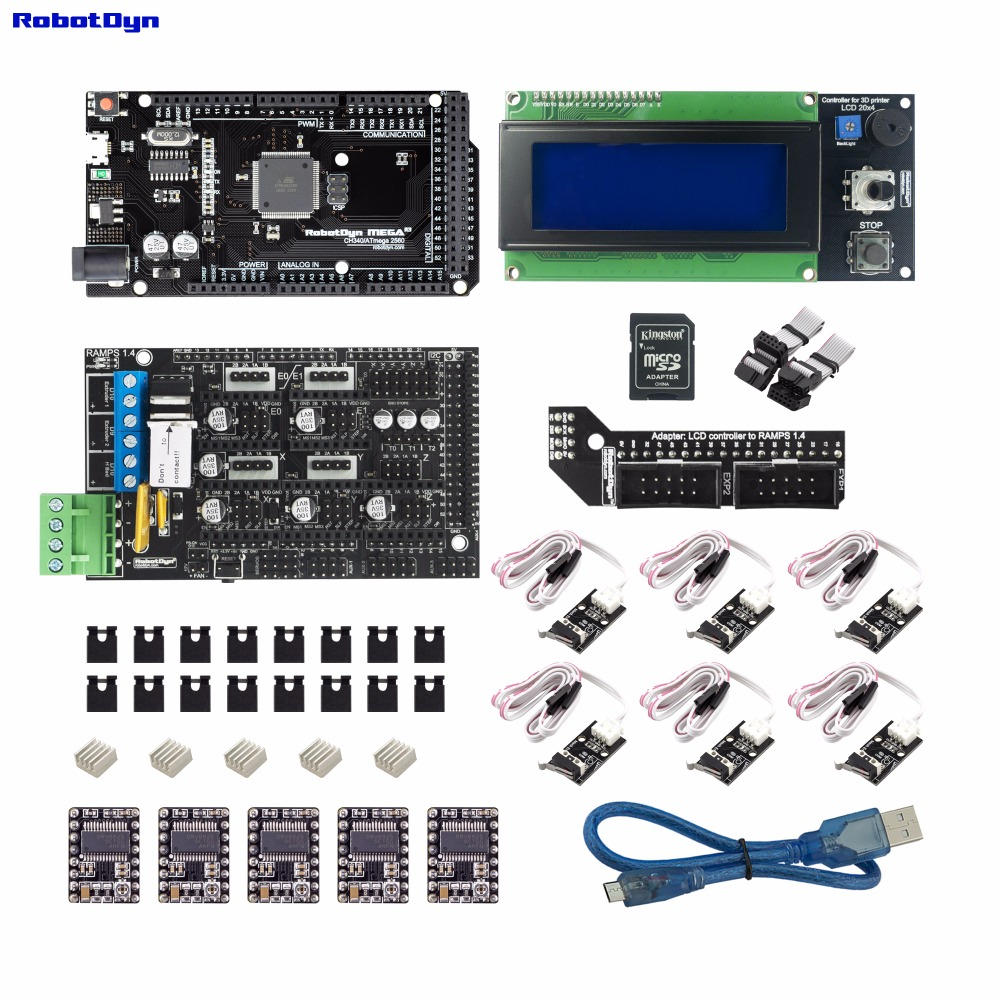 3D printer & CNC KIT3. MEGA 2560 + RAMPS 1.4 + LCD2004 controller + drivers + End-stop3D printer & CNC KIT3. MEGA 2560 + RAMPS 1.4 + LCD2004 controller + drivers + End-stop