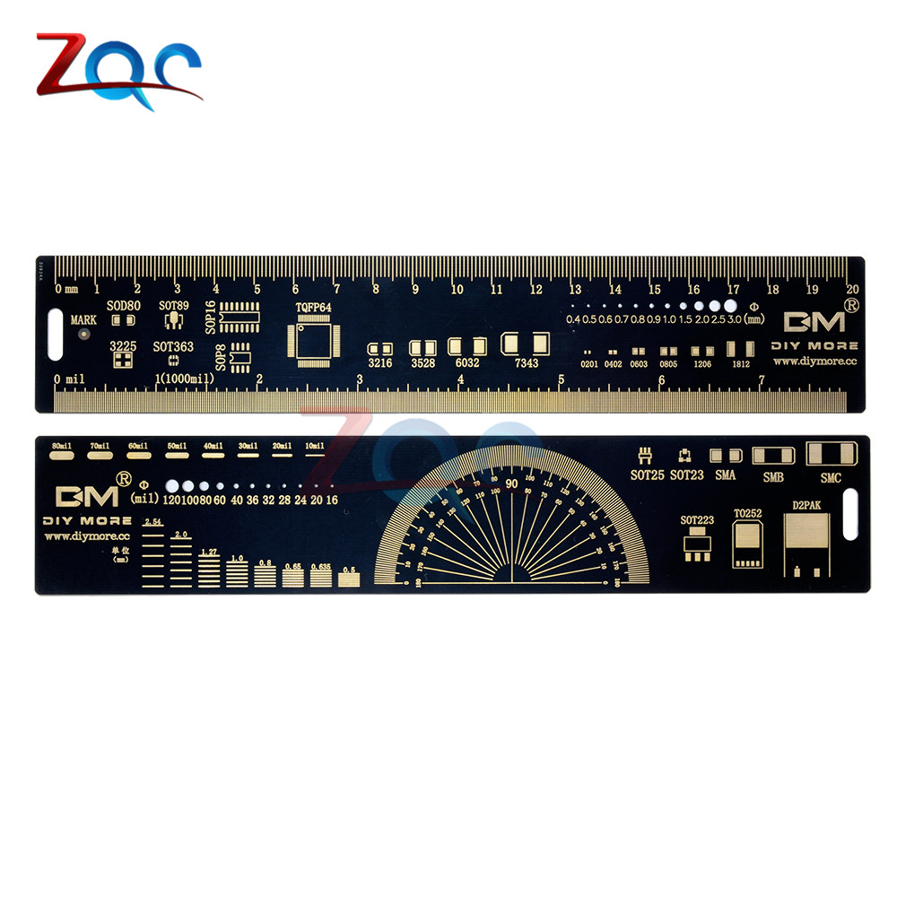 20cm PCB Reference Ruler v2 - 8 PCB Packaging Units for Arduino Electronic Engineers labview for engineers