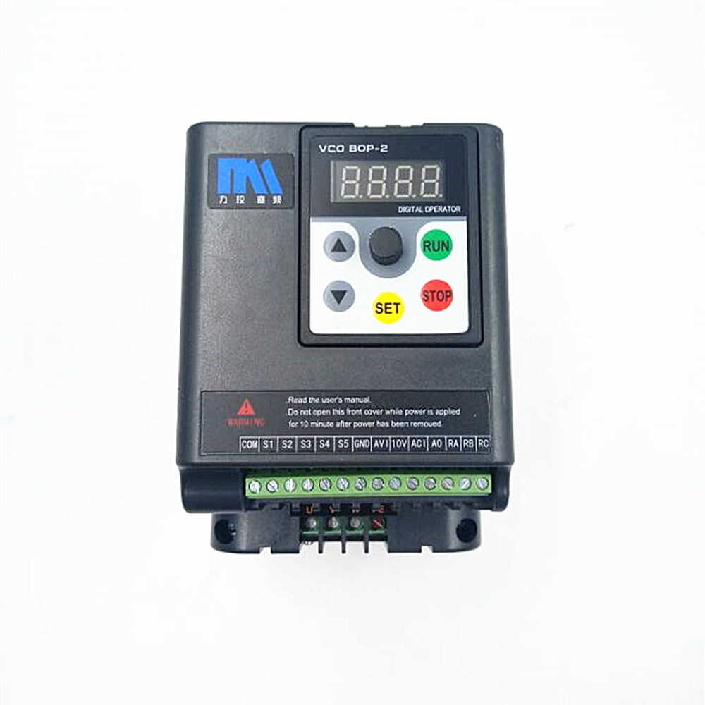 hight resolution of original universal 0 75kw inverter 1hp 1ph 220v 4a 500hz motor drive vfd with 5m extension