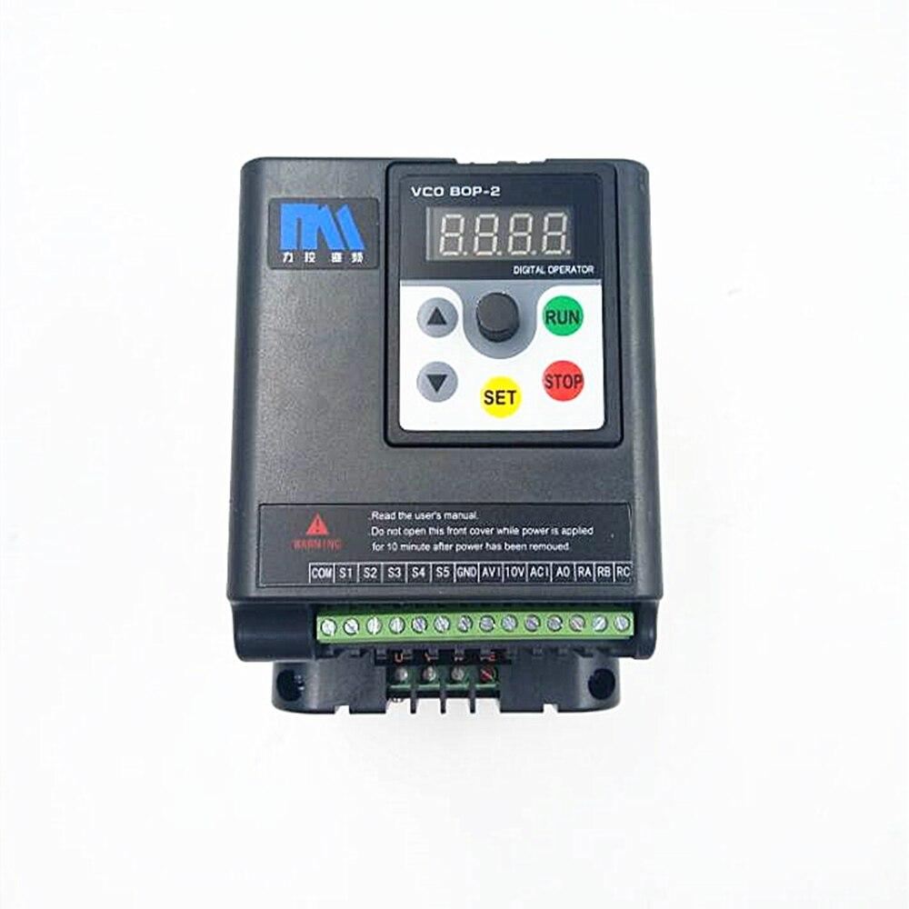 Original Universal 0,75 KW Inverter 1HP 1Ph 220V 4A 500Hz Motor Drive VFD mit 5M verlängerung kabel für 3Phase Asynchrone Motor