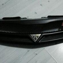 2009-2013 для KIA Forte полимерное волокно матовый черный Автомобильный передний бампер сетчатая решетка Вокруг отделки гоночных грилей 1 шт