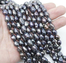 10 Strands Natural Black Baroque Pearl Loose Beads 14.5 inches Wholesale Lot Bulk 16 inches 30 40mm aaa natural lavender fireball baroque pearl loose strand