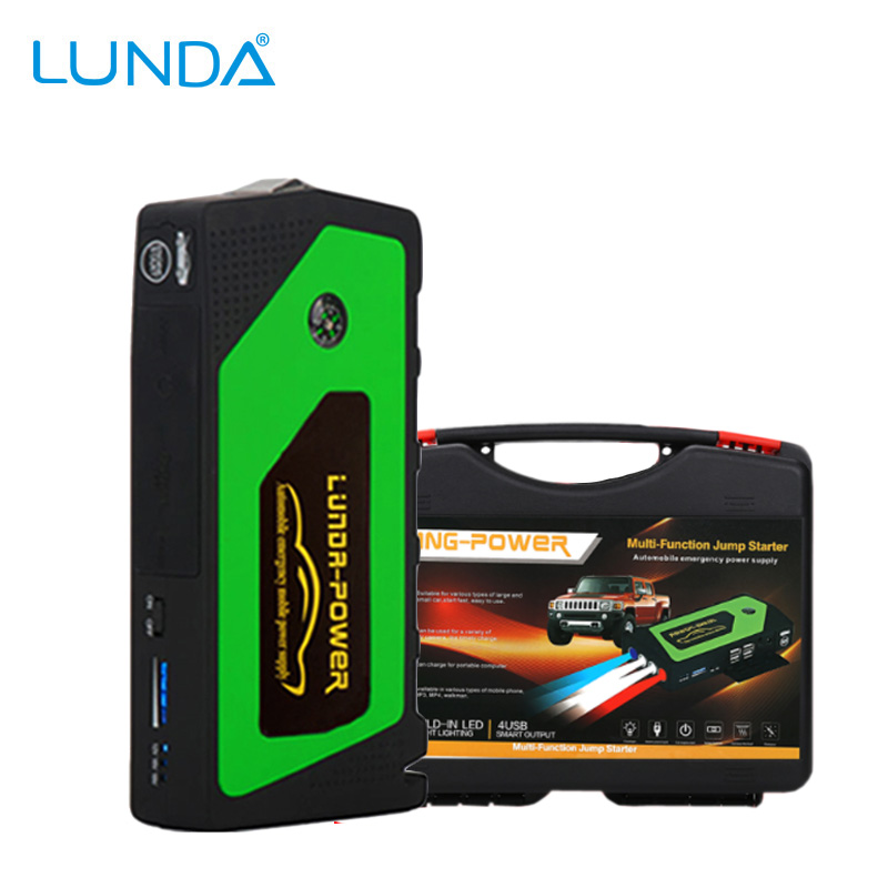 LUNDA Best Quality 12V <font><b>Portable</b></font> Mini Jump Starter Car Jumper Booster <font><b>Power</b></font> Mobile Phone Laptop <font><b>Power</b></font> Bank Battery Charger