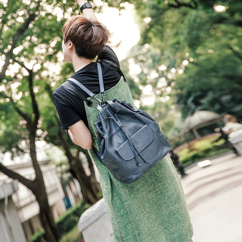 ソフト本革の女性のバッグバックパックラップトップ大容量の女性のショルダーバッグパックシンプルなデザイン旅行財布女性のための  グループ上の スーツケース & バッグ からの バックパック の中 3