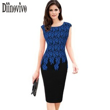 Vestidos Womens Elegant Vintage Floral Crochet Charming Pinup Casual Work Office Party Evening Sheath Bodycon Pencil