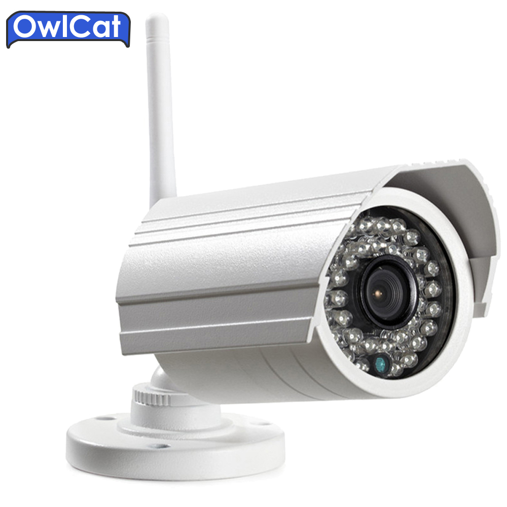 OwlCat CMOS Outdoor Waterproof Bullet WIFI IP Camera SD Card 1080P HD Wireless External Survelliance Security Camera P2P Audio owlcat wifi ip camera bullet outdoor waterproof onvif wireless network kamara 2mp full hd 1080p 720p security cctv camera