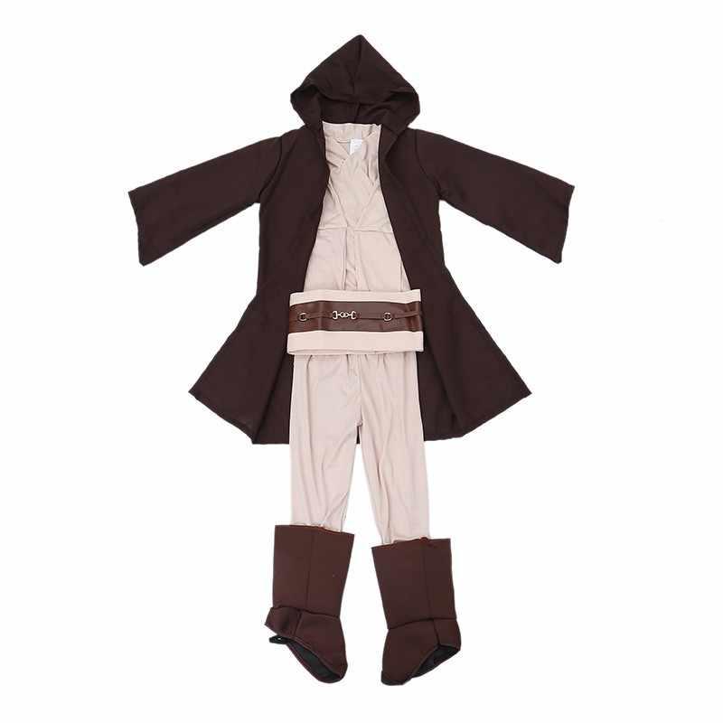 Gran oferta de disfraces de Carnaval para niños de Star Wars de lujo guerrero Jedi película personaje Cosplay para fiestas para niños