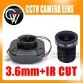 1080 P 3.6mm cctv lente + IR CUT Equipamentos M12 para Full HD Câmera de CCTV MTV Montagem