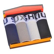 DEWVKV 2019 Brand mens boxers cotton sexy men underwear underpants male panties shorts U convex pouch for gay 1008