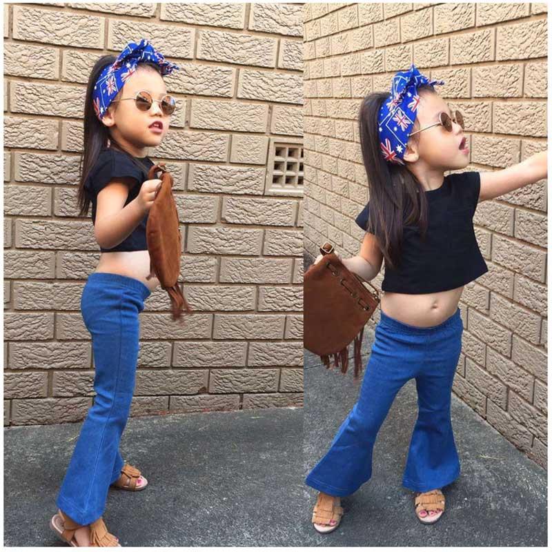 2016 Heißer Verkauf Frühling Sommer Kleinkind Mädchen Fashion Denim Jeans Hosen Trausers Kind Jeans Skinny Bootcut Retro Schlank Kinder Jeans