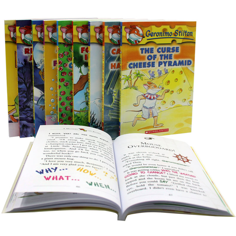 10 Books Geronimo Stilton 1-10 English Kids Child USA Original Color Picture Adventure Novel Manga Comic Story Book Age 5 and up