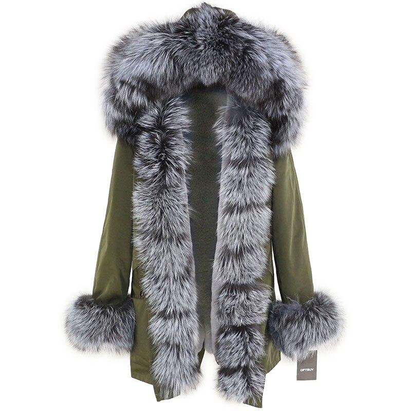 OFTBUY Waterproof Long Parka Winter Jacket Women Real Fur Coat Natural Fox Fur Collar Hood Thick Warm Streetwear Detachable New 89