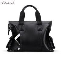 FALAN MULE Genuine Leather Bag Mens Shoulder Bags Business Handbag Casual Crossbody Bag Men Tote Briefcase