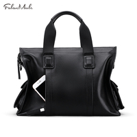 FALAN MULE Genuine Leather Bag Mens Shoulder Bags Business Handbag Casual Crossbody Bag Men Tote Briefcase