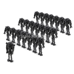 100pcs/lot C014 Battle Droid Trooper Figures Building Block Model Building Set kits Bricks DIY Toys for Children