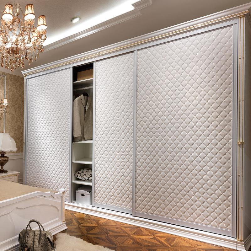 Дизайн Oppein кожаный материал современный деревянный шкаф YG11114