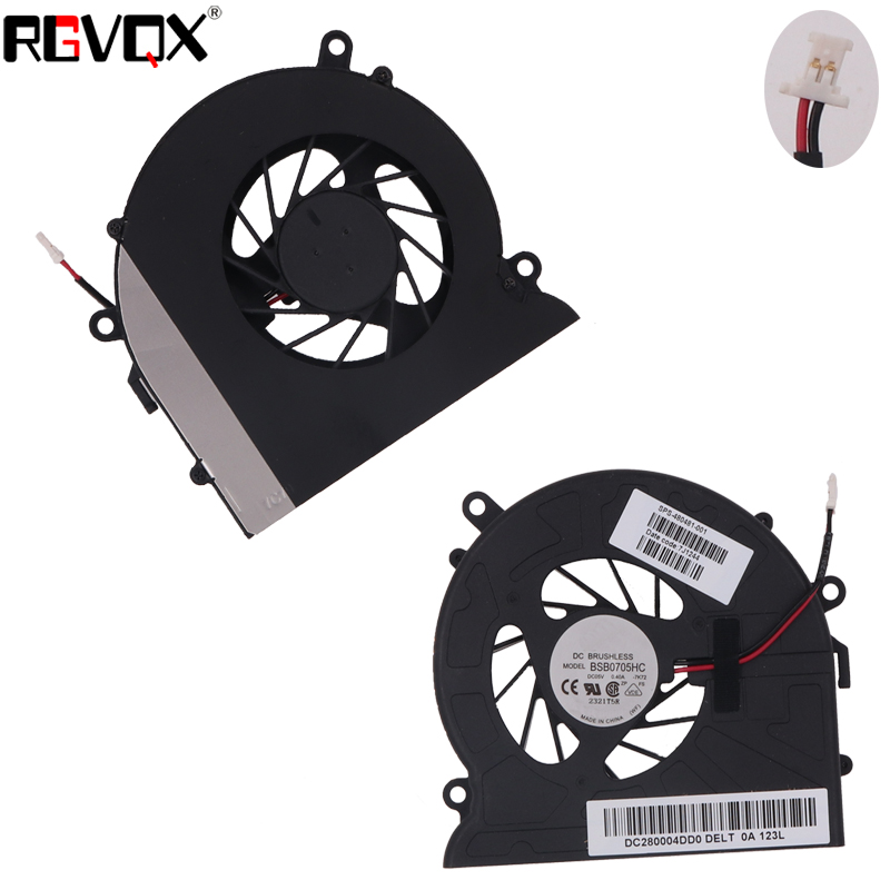 Купить с кэшбэком New Laptop Cooling Fan for HP Pavilion DV7 Series P/N DFS531005MC0T MF60090V1-B080-G99 CPU Cooler Radiator