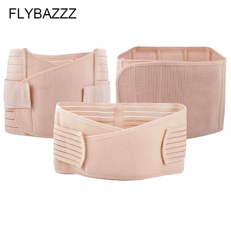 FLYBAZZZ New Hot Three-piece Set Slimming Belt Sports Bodybuilding Waist Abdomen Adjust Support Protection Postpartum Recovery