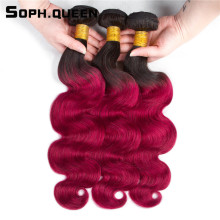 Soph queen Brazilian Body Wave Bundles Remy Hair Extensions 3Pcs/pack Human Hair Weave Soft Can Be Dye