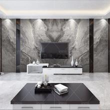 Роскошный Серый мраморные обои 3D настенный Декор по индивидуальному заказу фрески фото напечатанный кирпич стена Бумага рулон для ТВ фон