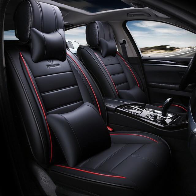 Full Set Universal Leather Car Seat Cover Automobiles Cars For Subaru Impreza XV WRX STI Forester
