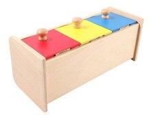 Niños Montessori Juguete de Madera Del Bebé Colorida Caja Del Cajón de Aprendizaje Preescolar Educación Formación Brinquedos Juguets
