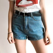 Wixra Basic Denim Shorts For Women 2018 Summer New Branded Trendy Slim Plus Size Short Pants High Waist Casual Jeans Shorts(China)
