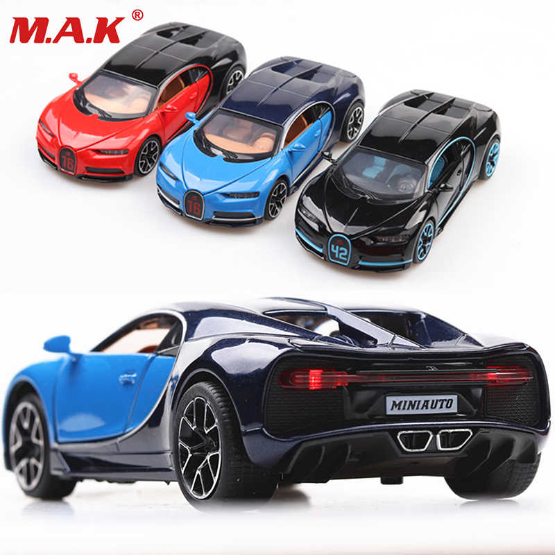 huge selection of dea5e d9b66 classic car model toys 1:32 scale diecast Bugatti sports car metal model  toy pull back door can open with retail box