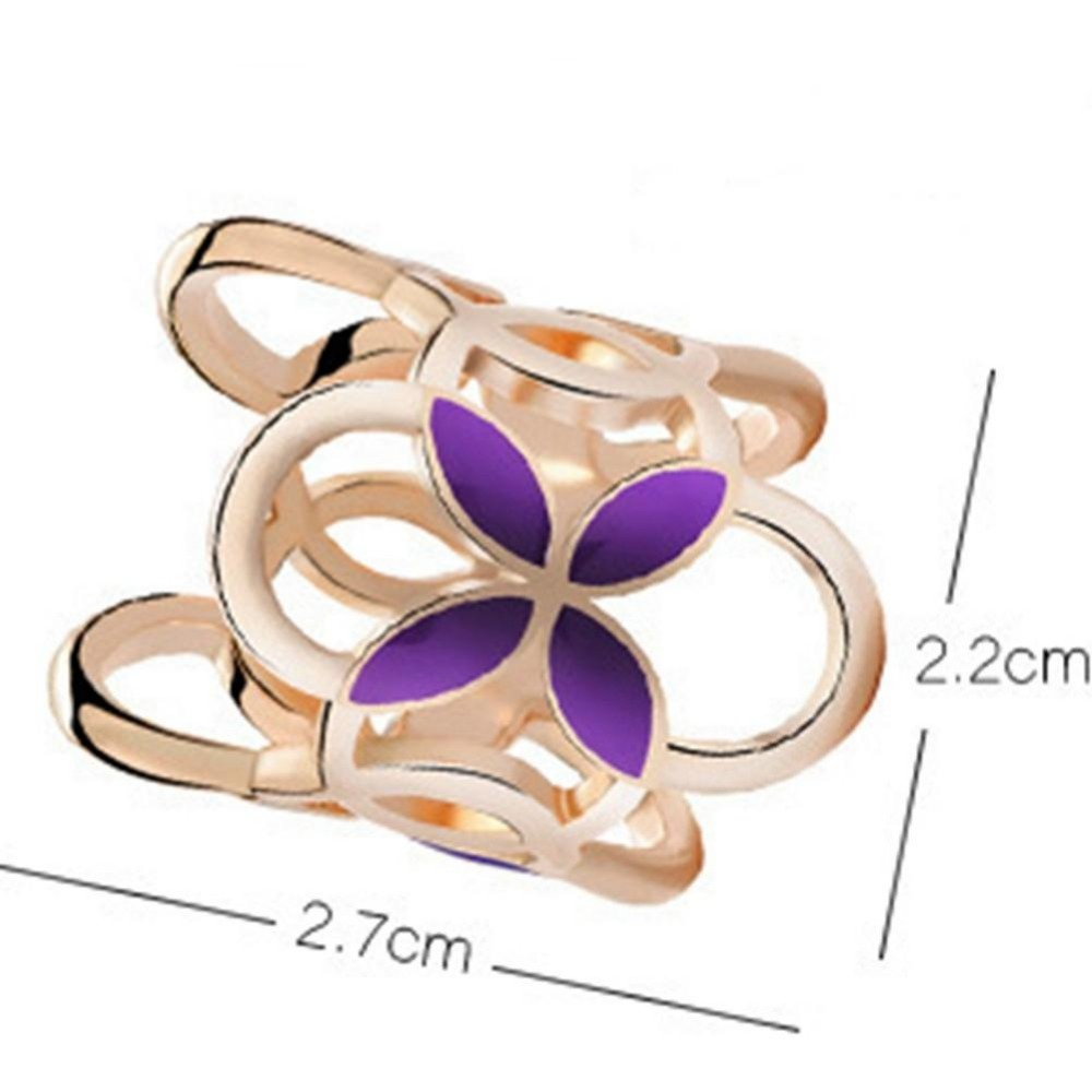 XIUFEN Brooch Pin Three Scarf Clip Four-leaf Clover Shawl Buckle Brooch Pin Fashion Simple For Christmas New Years Gift
