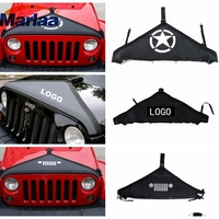 For 2007 2017 Jeep Wrangler Face Style Front Hood Protective Bra Cover