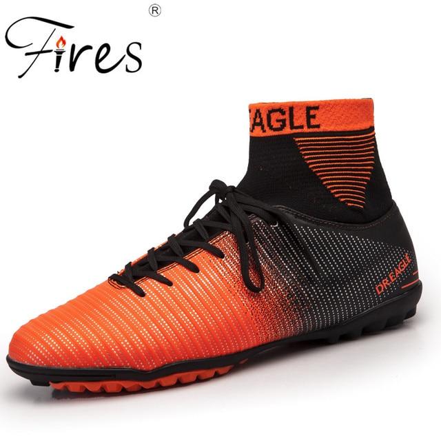8c7e82e9a07cd حرائق الخريف الذكور أحذية كرة القدم المسامير قصيرة أحذية رياضية في الهواء  الطلق العشب أحذية تدريب