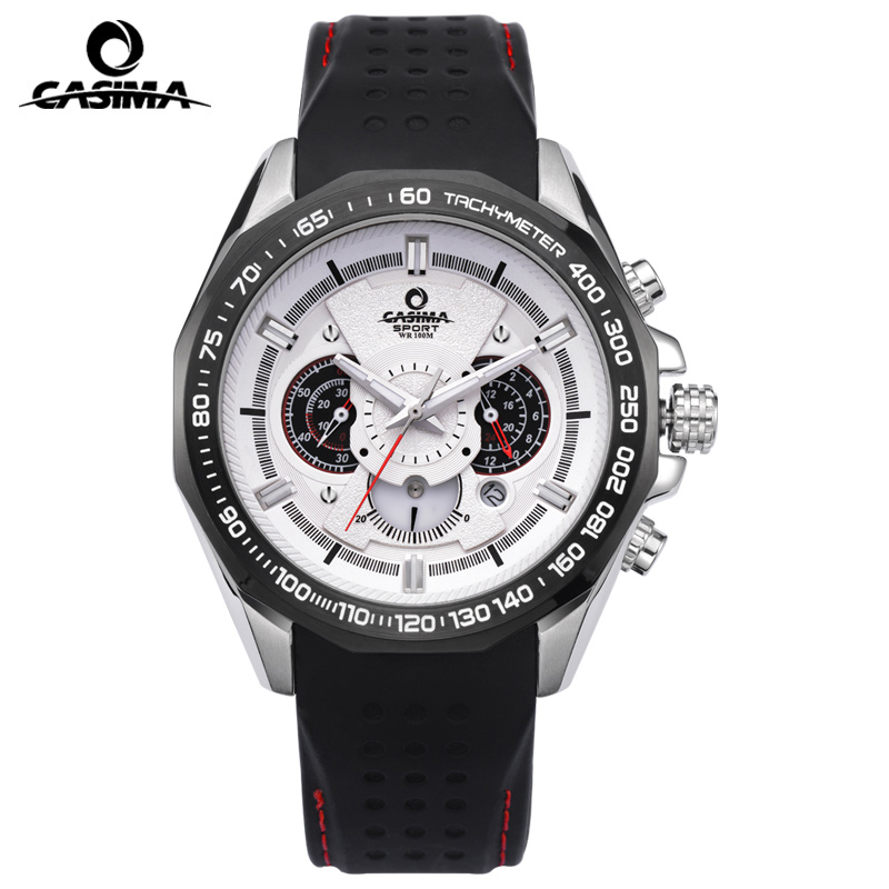 CASIMA Luxury Brand Sport Quartz Watches Men reloj hombre Fashion Silicone band100m Waterproof Men Watch montre homme Clock цена