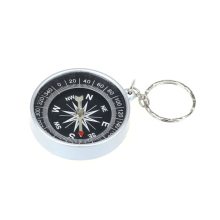 New Type Keychain Outdoor Camping Plastic Compass Hiking Hiker Navigation Digital Compass 1 piece