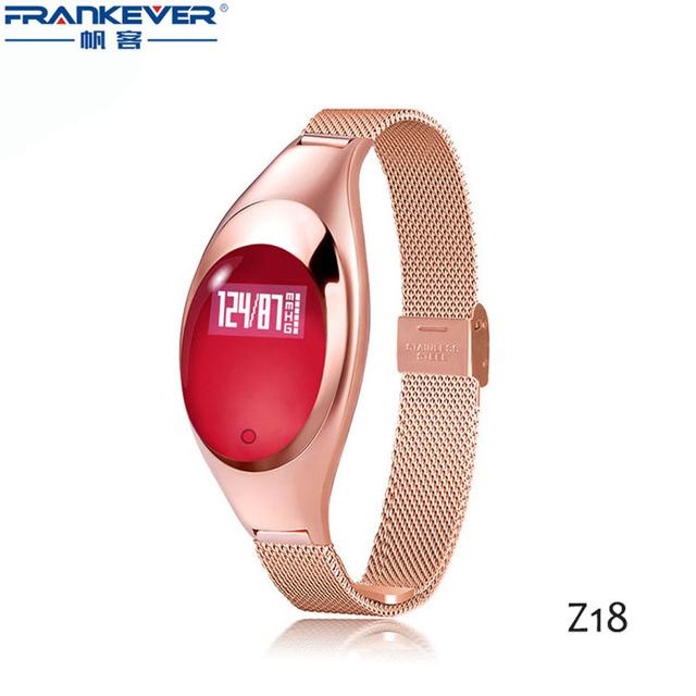 Z18 Mujeres de Lujo Deporte/Partido Bluetooth Inteligente Pulsera de Fitness android ios Pulsómetro Pulsómetro Smartband en la muñeca