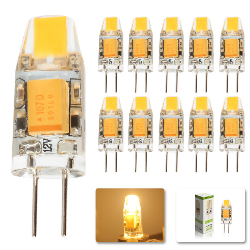 10Pcs/lot 2015 G4 AC DC 12V Led bulb Lamp SMD 3W Replace halogen lamp light 360 Beam Angle luz lampada led