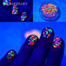1 box Mixed Color Round Nail Glitter Tips Thin DIY Decor 3D Nail Art Flakes Sequins Manicure Accessory(China)