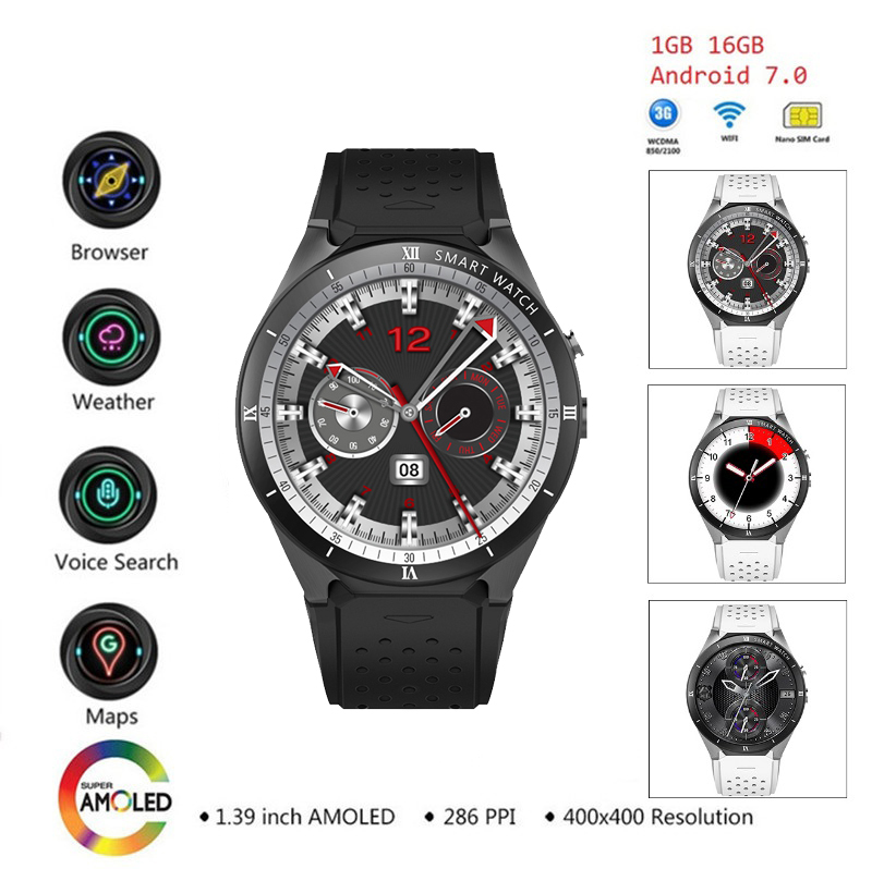 Comprare KW88Pro Kw88 Pro 3g Del Telefono Smartwatch Android 7 0