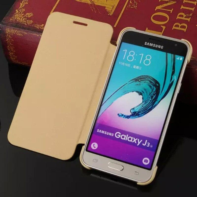 ... Leather-Case-For-Funda-Samsung-Galaxy-J3-Case-2016-J300-J320-Leather