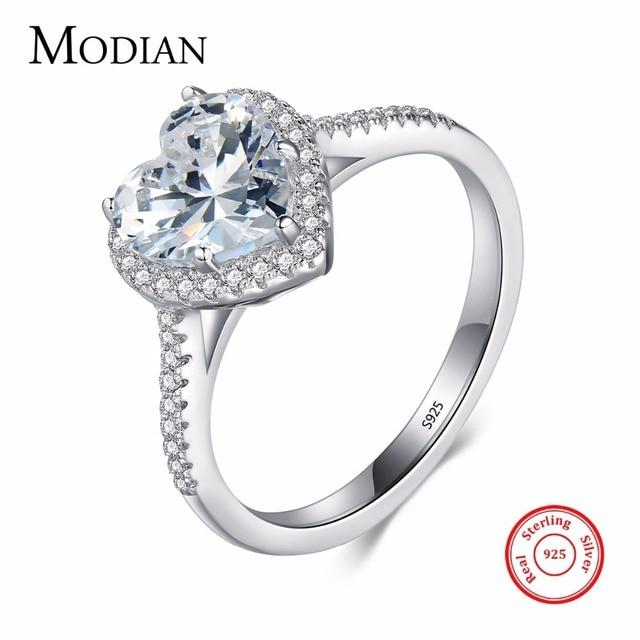 В форме сердца стерлингового серебра 925 кольцо уровень AAAAA cz обручальное Обручальные кольца для женщин девочек Bijoux с подарочной коробке
