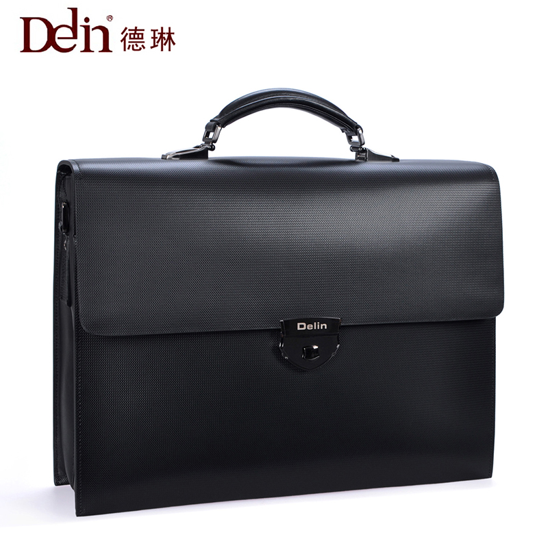 delin 92 De Lun code lock business Bao Bao Wen bag handbag, leather man bag big capacity cross
