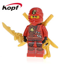 50Pcs XH 094 Ninja Super Heroes Anime Cole Master Chen Kai Nya's Brother Building Blocks Action Bricks Toys for Children Gifts(China)