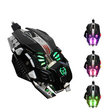 Gaming Mechanical Mouse 8 Button Wired Game Gamer Macros Programming Optical Computer Mouse for Pro Gamer Laptop PC