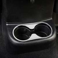 Silver Rear Cup Holder For Jeep Wrangler 2011 2015 ABS Rear Seat Water Cup Holder Frame