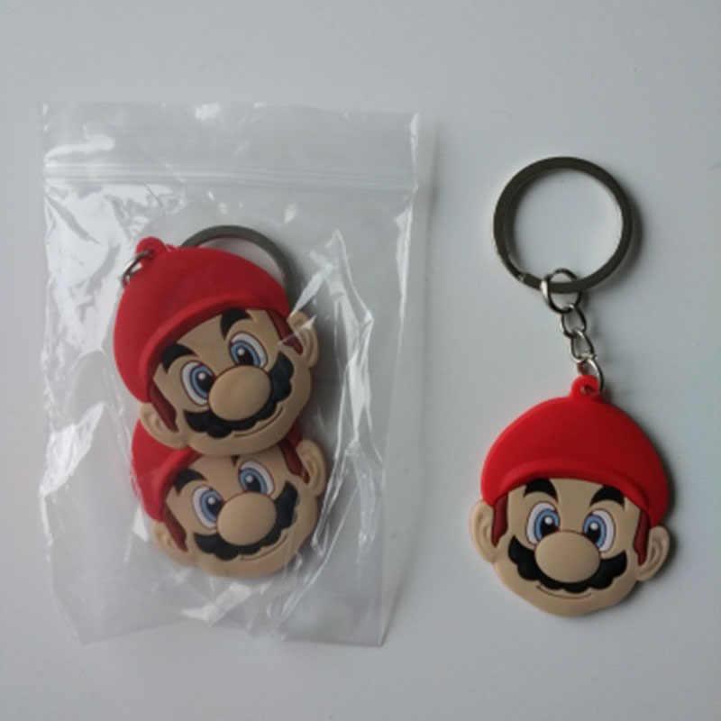 1 pcs Chaveiro PVC Figura Dos Desenhos Animados Mickey Super Mario Trolls Detentor da Chave Do Anel Chave Da Corrente Chave Mini Anime Minnie Moda encantos