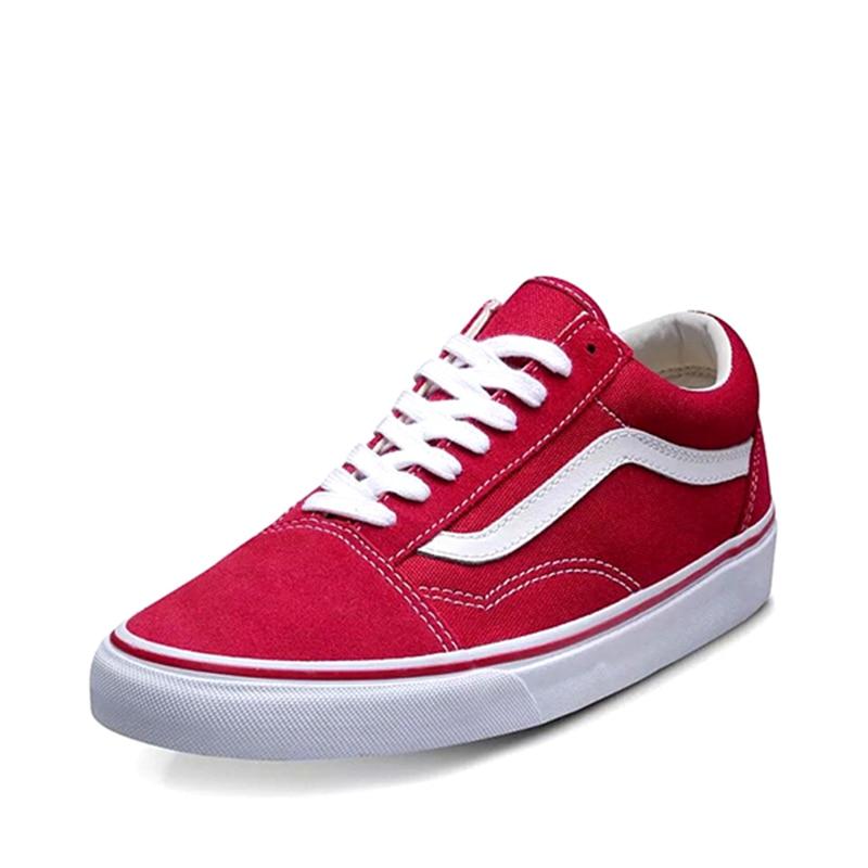 vans old skool red women