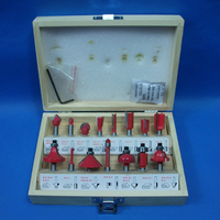 1 4 6 35mm 15 PCS Shank Tungsten Carbide Router Bit Set Wood Woodworking Cutter Trimming