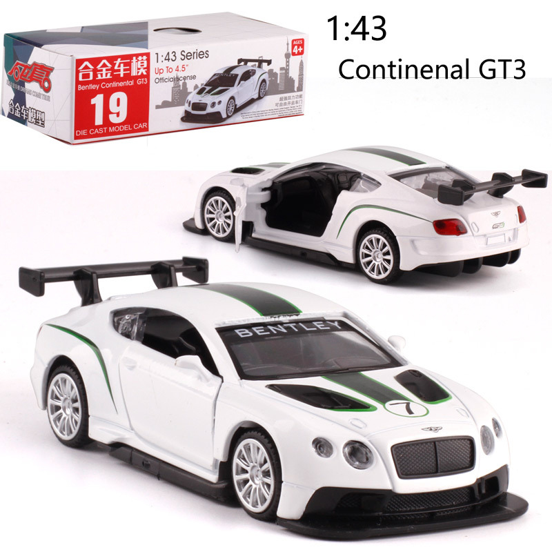 1:43 Scale BentleyGT Alloy Pull-back Car Diecast Metal Model Car For Collection Friend Children Gift