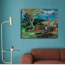 лучшая цена Coast by Paul Gauguin on Canvas Painting Calligraphy Poster Prints Living Room House Wall Art Painting Home Decoration Picture